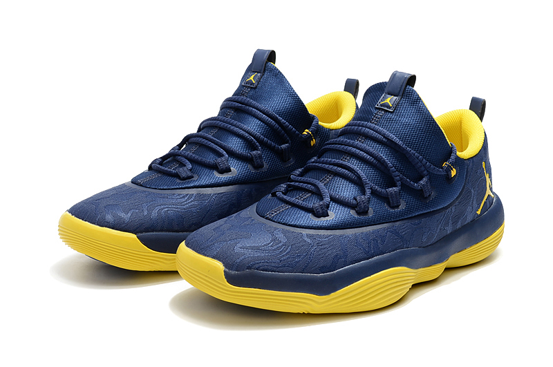 New Air Jordan Griffin Blue Yellow Shoes