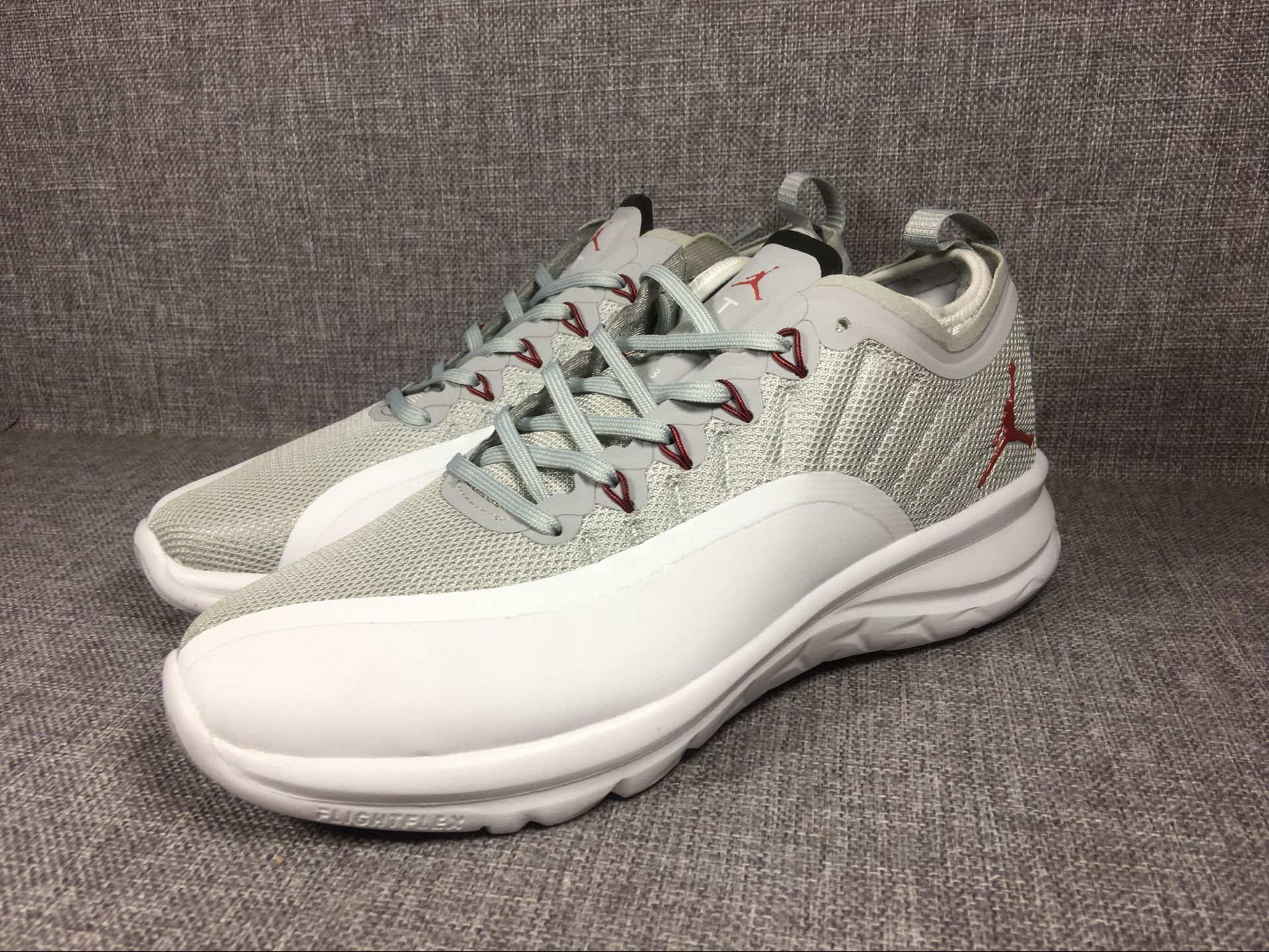 2018 New Air Jordan 12 Low Grey White Shoes