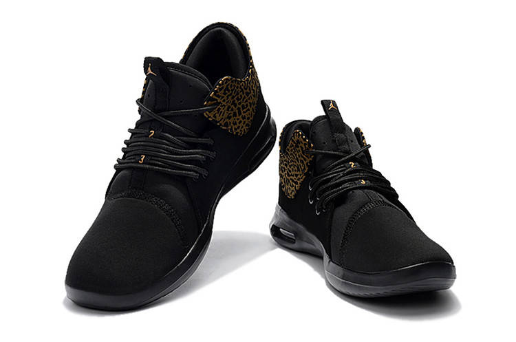 2018 Black Cheetah Print Yellow Jordan Running Shoes