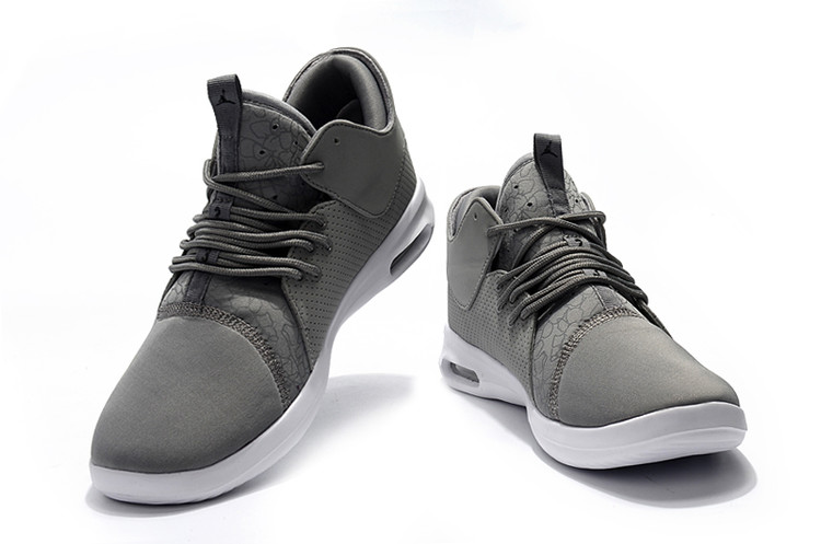 2018 Grey White Jordan Running Shoes