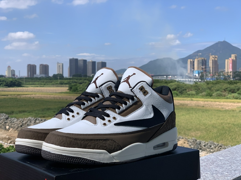 Air Jordan 3 Retro Reversed Swoosh Brown Black