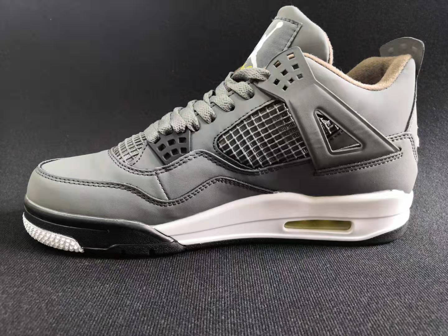 Air Jordan 4 Retro 2019 Silver Grey Yellow