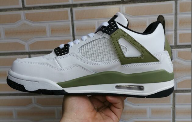 2019 Air Jordan 4 Retro White Olive Green