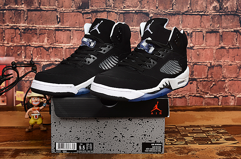 New Jordan 5 Oreo Black White