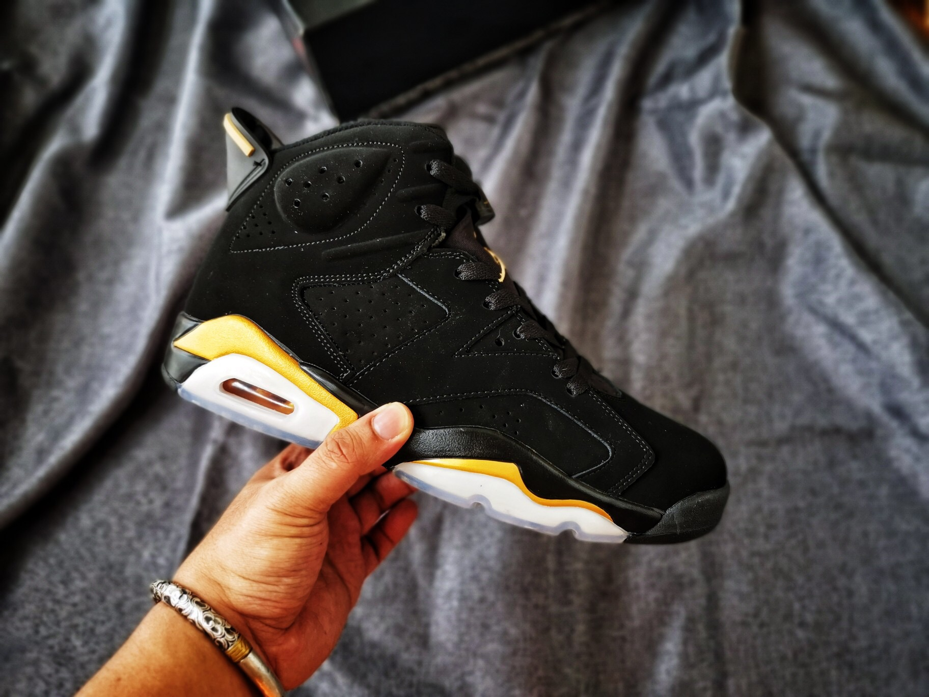 New Air Jordan 6 Retro Black Gold