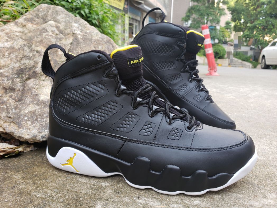 New Air Jordan 9 Retro Black White Yellow