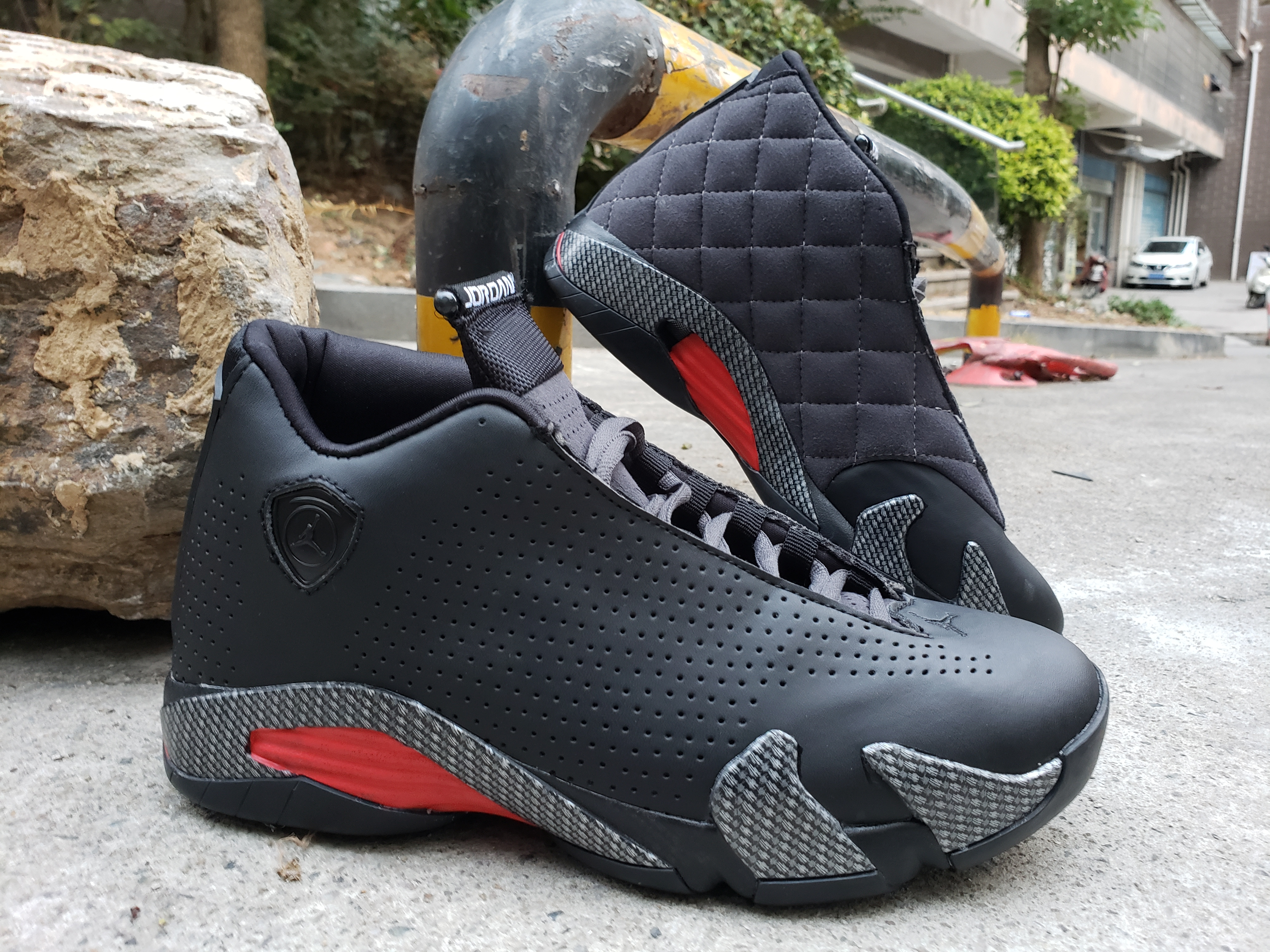 Latest Air Jordan 14 Black Red