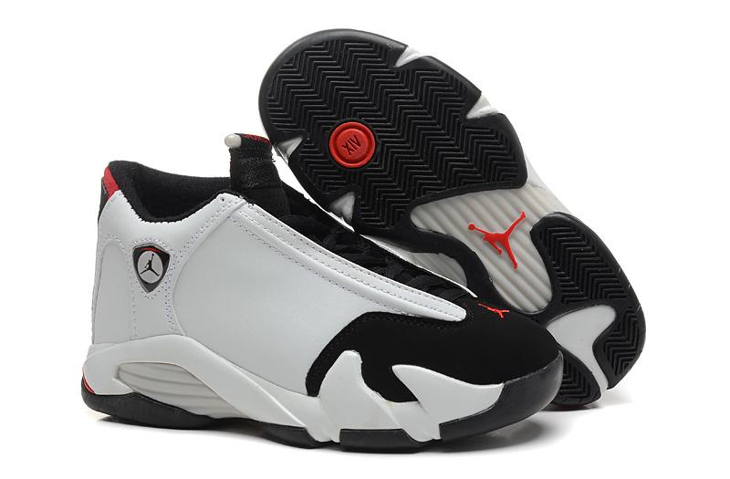 Latest 2015 Jordan 14 Shoes White Black Red