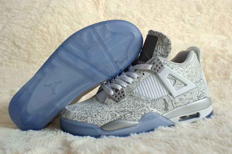 Air Jordan 4 Retro Carve Silver Shoes