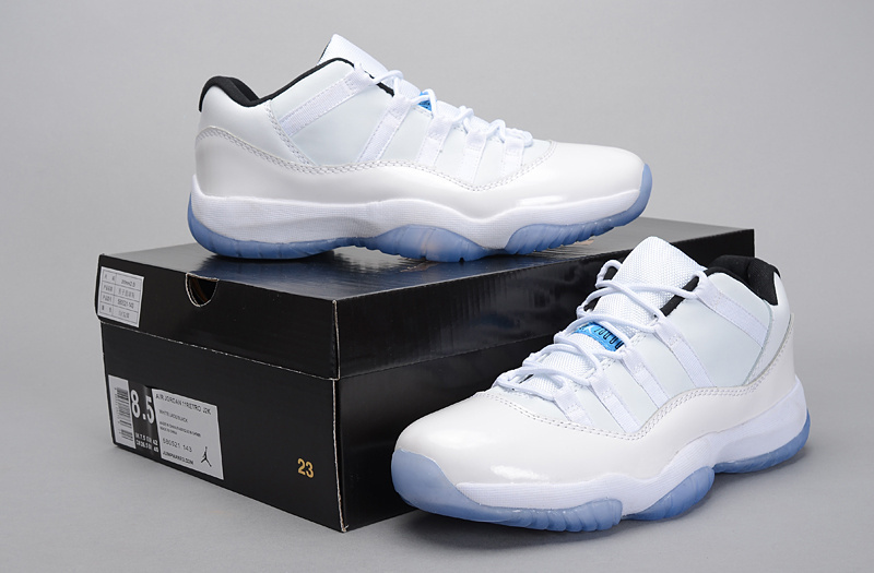 2015 Air Jordan 11 Low Legend White Blue Shoes