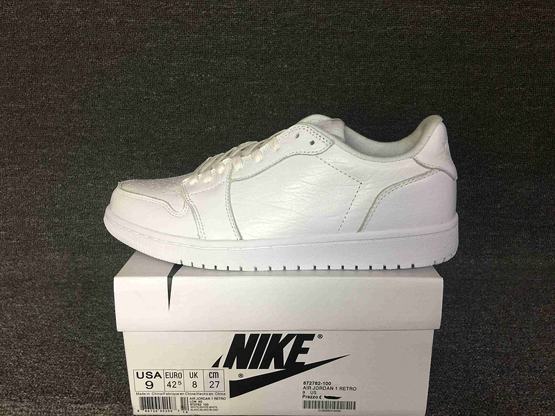 2016 Jordan 1 Low NS Triple White GS Shoes