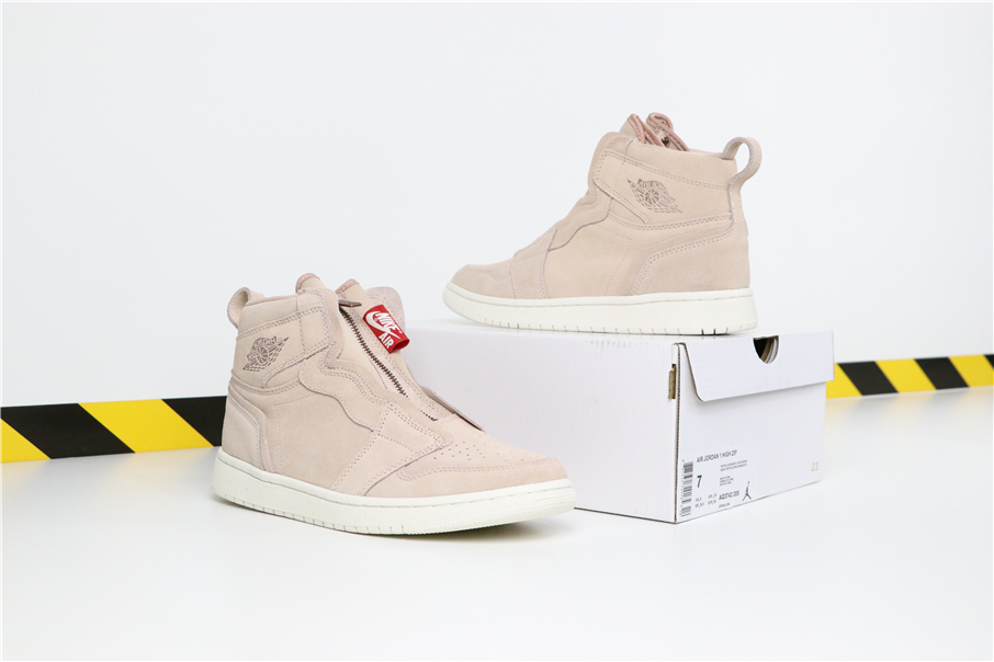 "Air Jordan 1 High Zip ""Particle Beige""Shoes For Women"