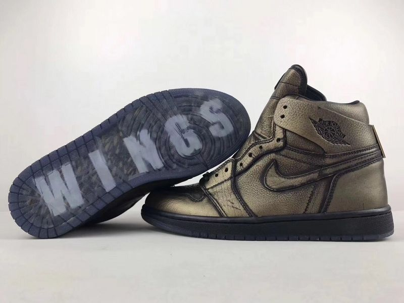 2017 Jordan 1 Wings Bronze Black Shoes