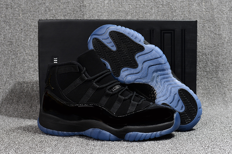 Air Jordan 11 Cap And Gown Black Gamma Blue
