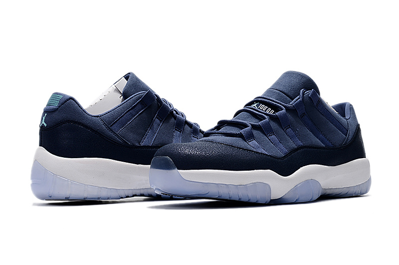 2017 Jordan 11 Low Blue Moon Shoes
