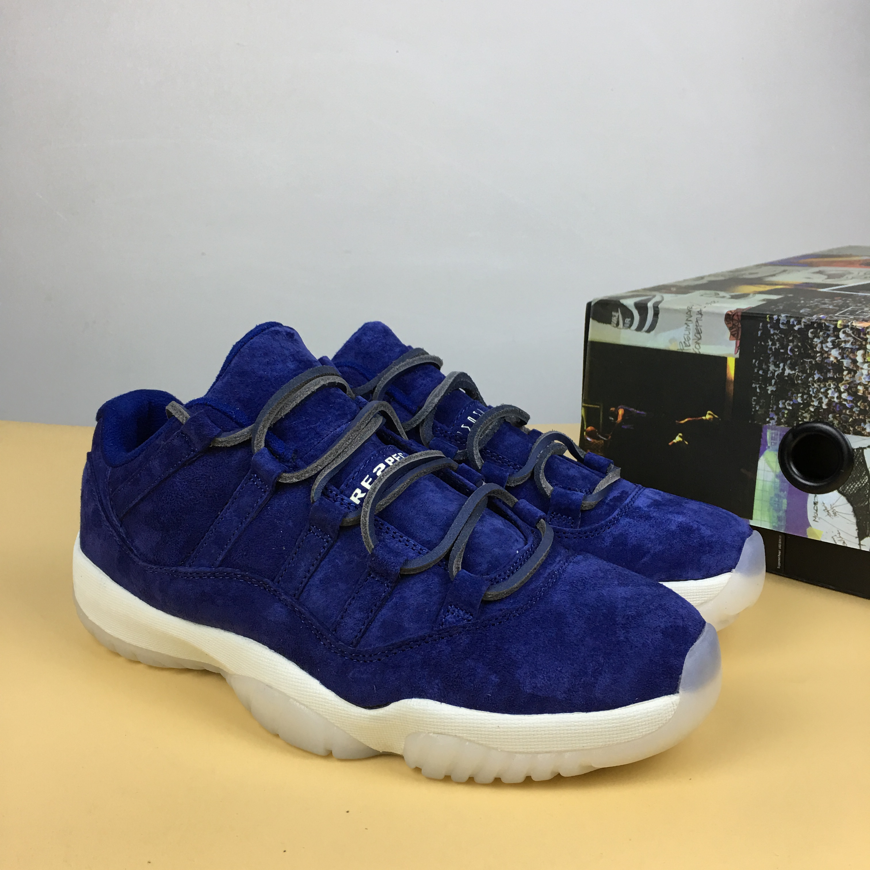 Air Jordan 11 Low RE2PECT Sea Blue Shoes
