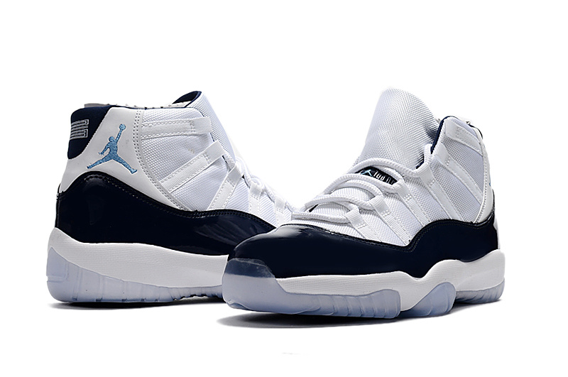 Air Jordan 11 Midnight Navy White Blue Ice Blue Shoes