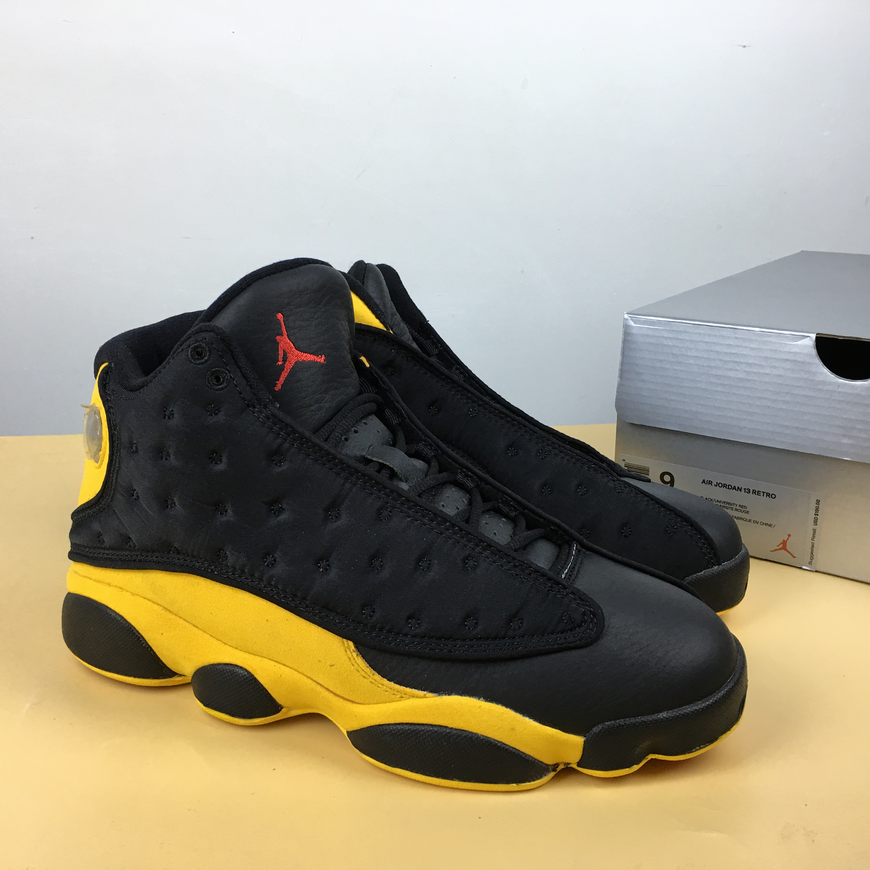 Air Jordan 13 Melo Class of 2003 Black Yellow Red Shoes