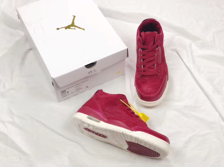 Air Jordan 3 Rose Gold Wine Red Shoes