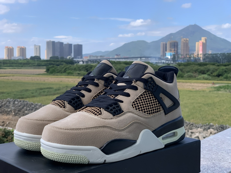 2019 Air Jordan 4 Retro Mushroom Black White