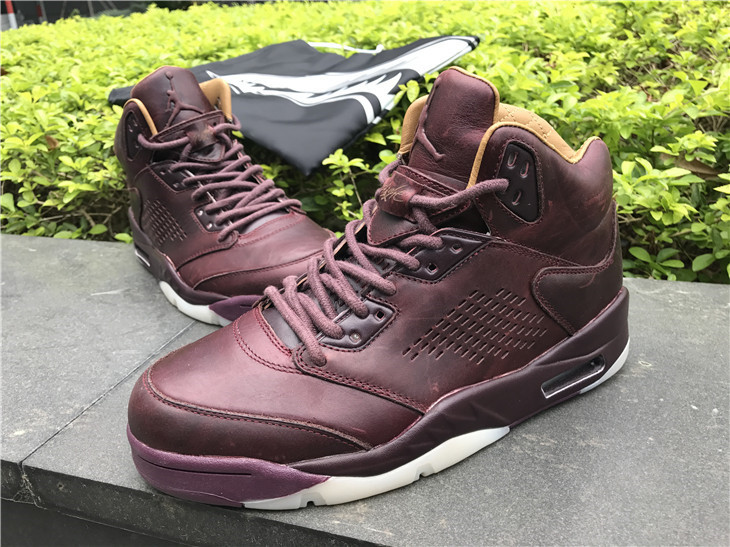 2017 Jordan Retro 5 Premium Bordeaux Shoes