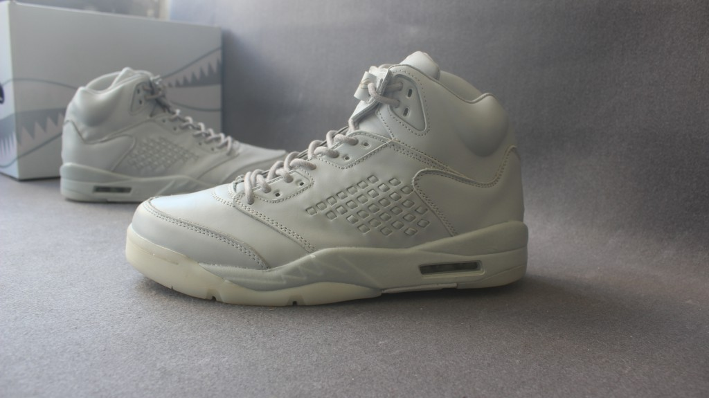 New Air Jordan 5 Premium Take Flight All White Shoes