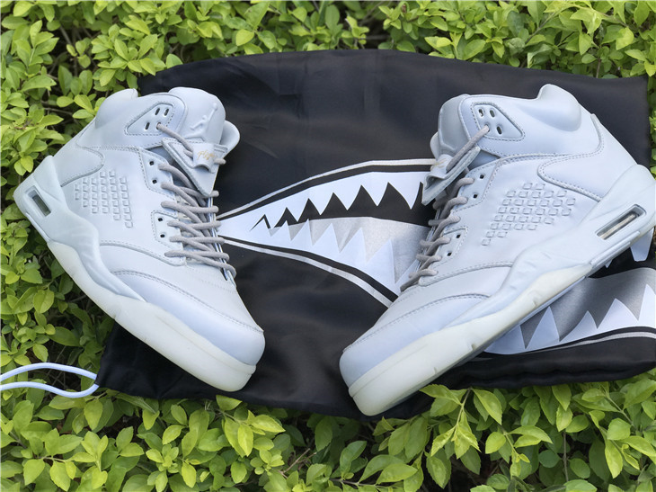 2017 Jordan Retro 5 Pure Platinum White Shoes