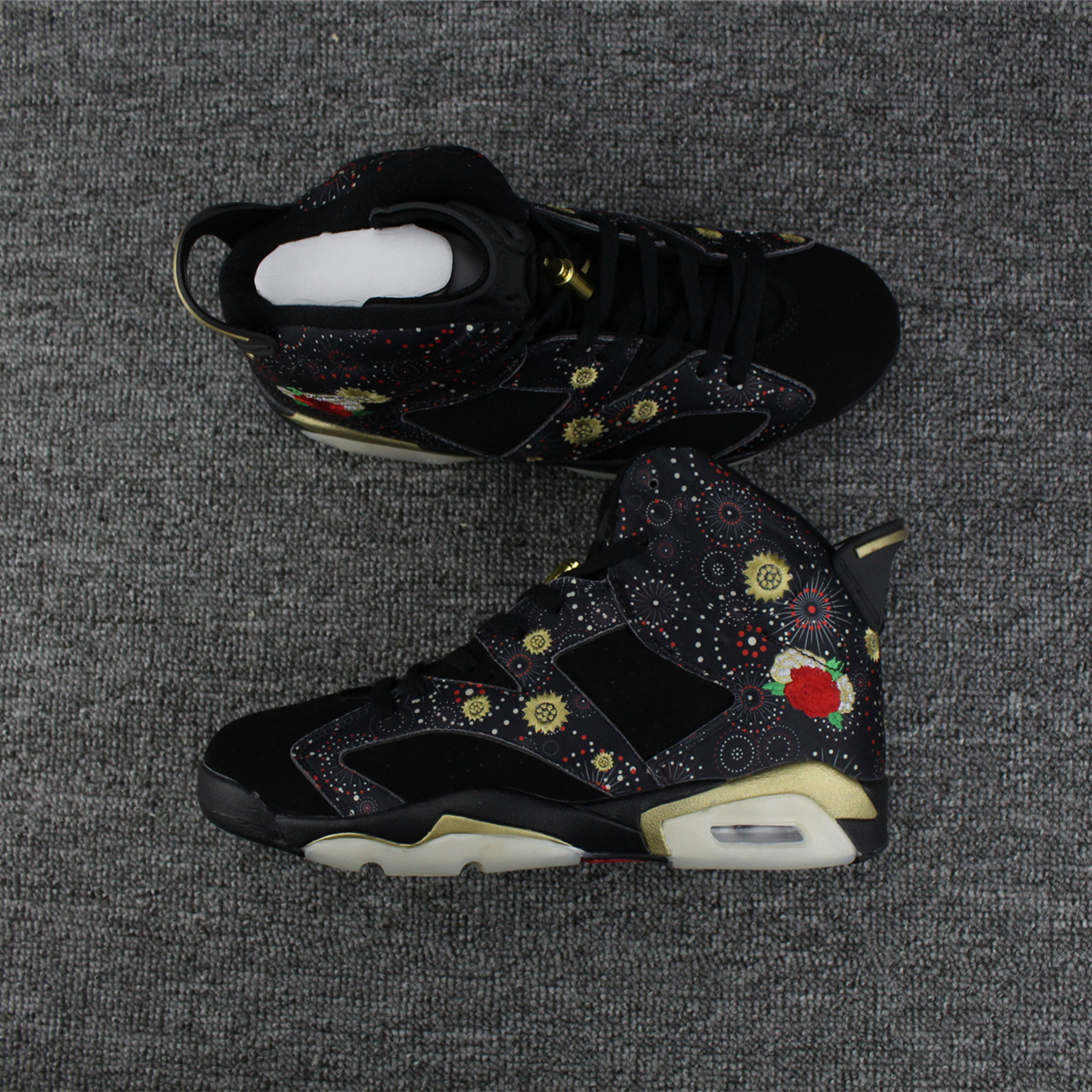 2017 New Jordan 6 Chinese New Year Black Print Shoes