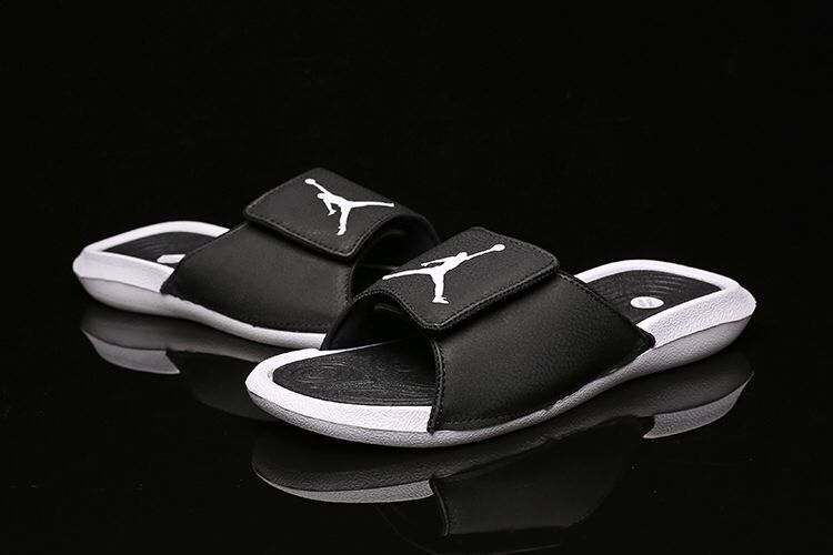 Women Air Jordan Hydro 6 Sandals Black White
