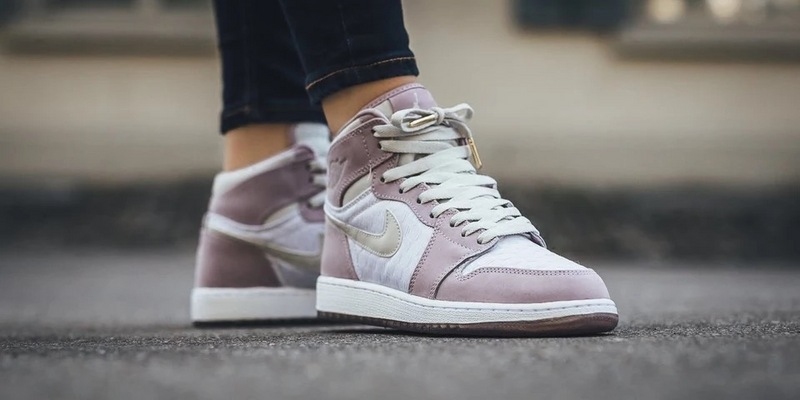 2016 Jordan 1 High HC GS Pink White Shoes