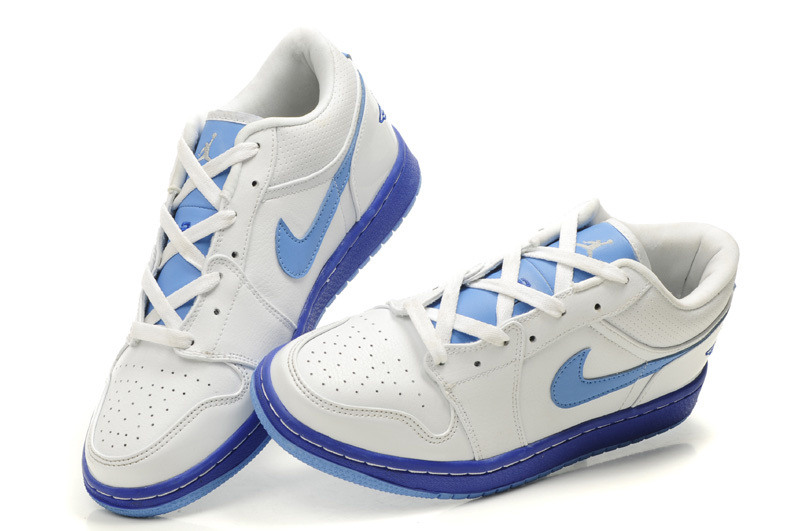 Air Jordan 1 Low White Light Blue Shoes