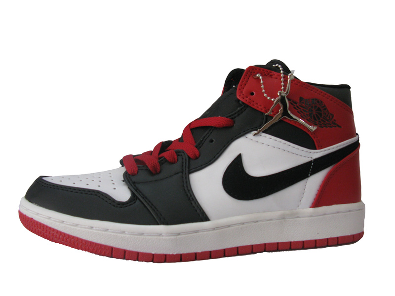 Air Jordan 1 Original Black White Red Shoes