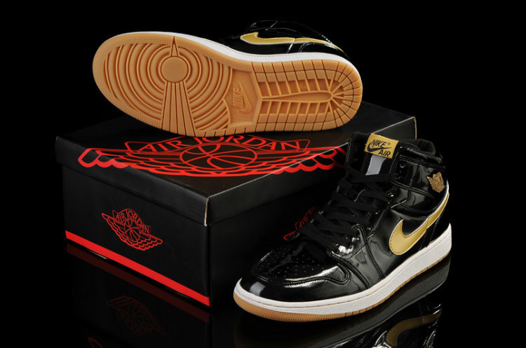 Black Gold Jordans 1 Retro