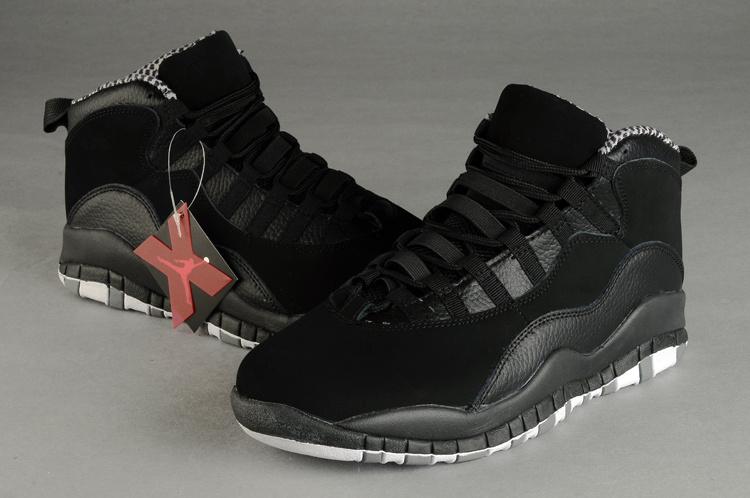 pretty nice f339d cf497 Air Jordan 10 Duplicate All Black Shoes Sale Online With ...
