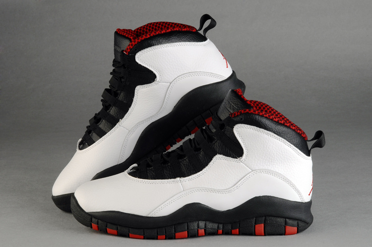 Mens Air Jordan 10 Accolades Premier White Red shoes