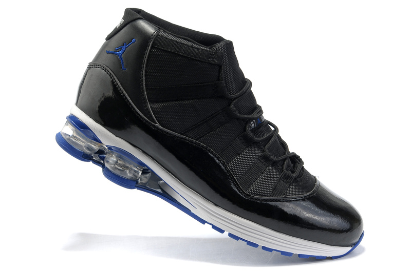 Air Jordan 11 Cushion Black White Blue