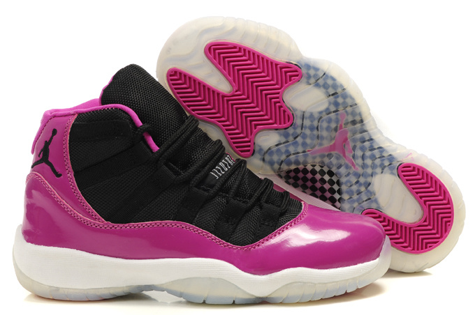 Air Jordan 11 Black Pink White For Women