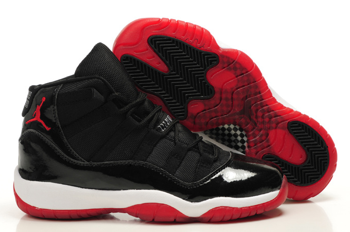Air Jordan 11 Black Red White For Women