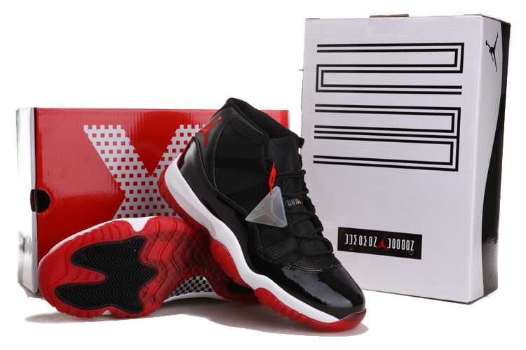 2012 Air Jordan 11 Chalcedony Black White Red Shoes