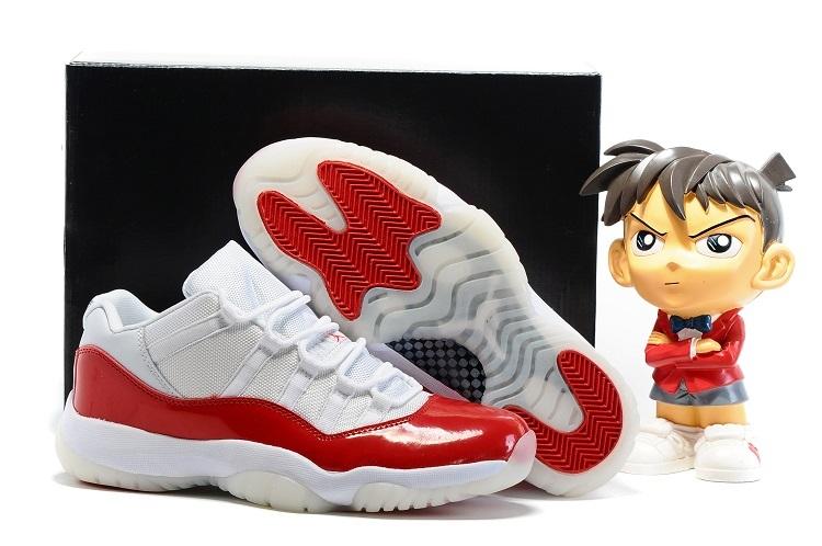 Air Jordan 11 Low White Varsity Red Shoes