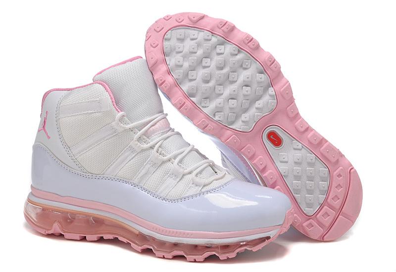 Air Jordan 11 Max White Pink For Women