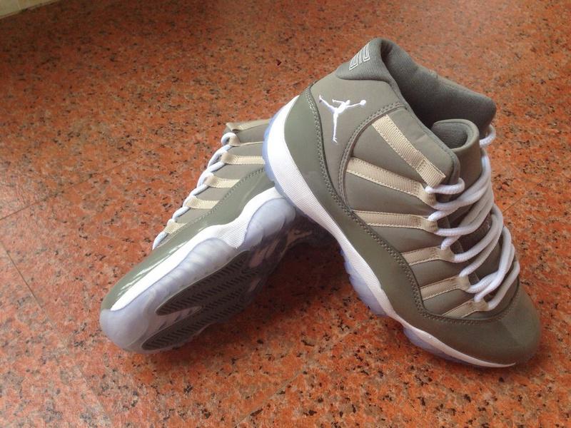 Air Jordan 11 Retro Grey White 2014 Shoes