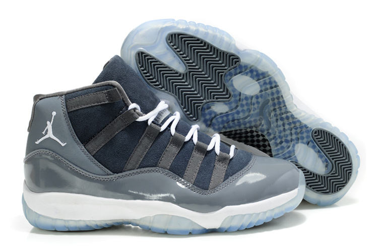 Air Jordan 11 Suede Grey White Shoes