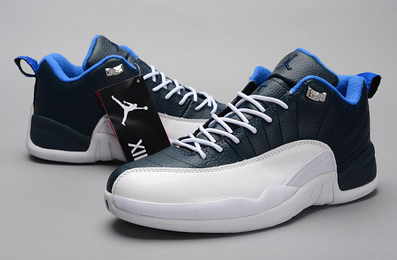 2015 Air Jordan 12 Low 30th Blue White Shoes