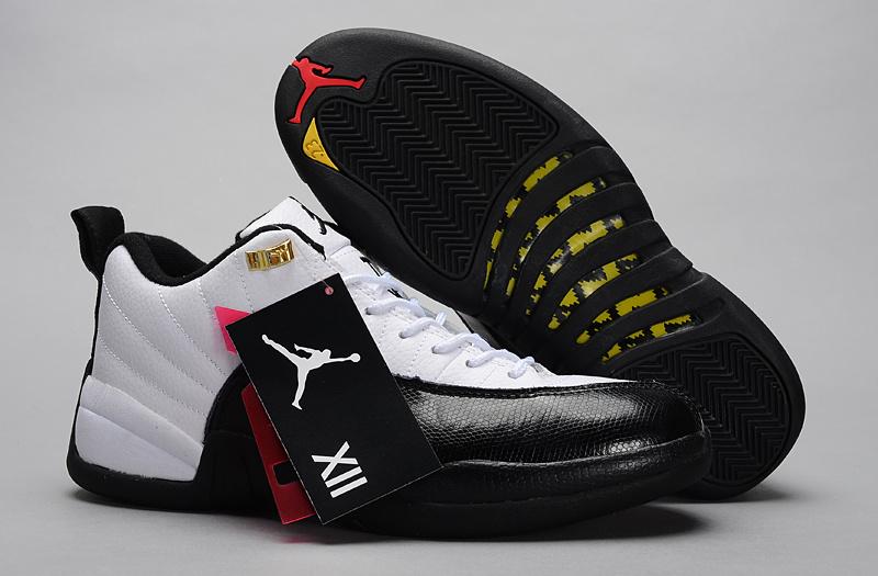 2015 Air Jordan 12 Low 30th White Black Shoes