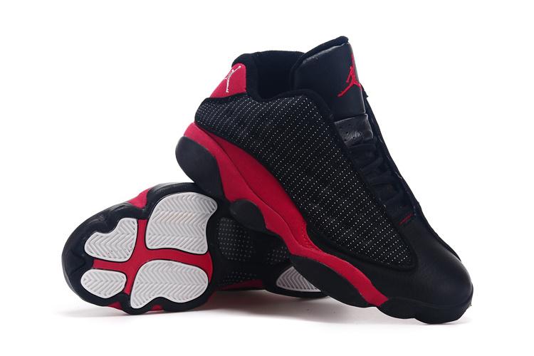 2015 Air Jordan 13 Low Retro Black True Red