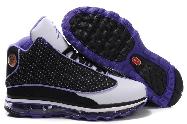 Air Jordan 13 Max Black Grey Purple For Women