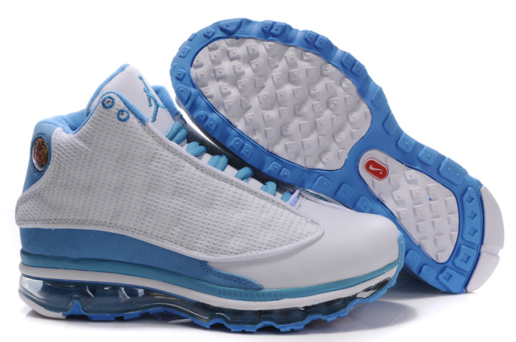 Air Jordan 13 Max White Light Blue For Women