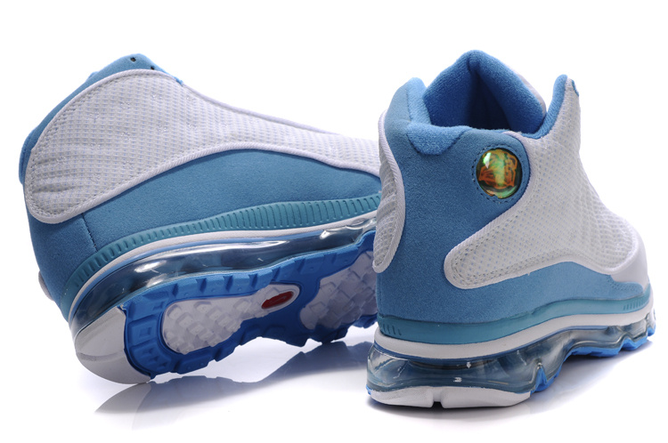 low cost 80bd1 6892f Authentic Air Jordan 13 Max White Light Blue For Women On Sale