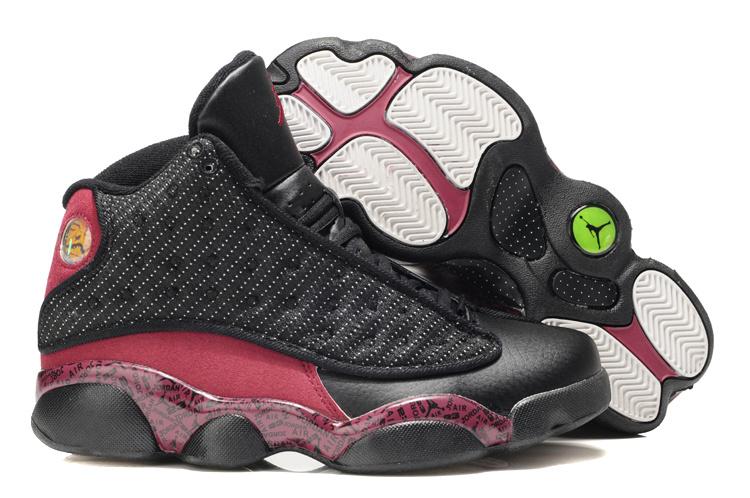 Air Jordan 13 Print Red Black For Women